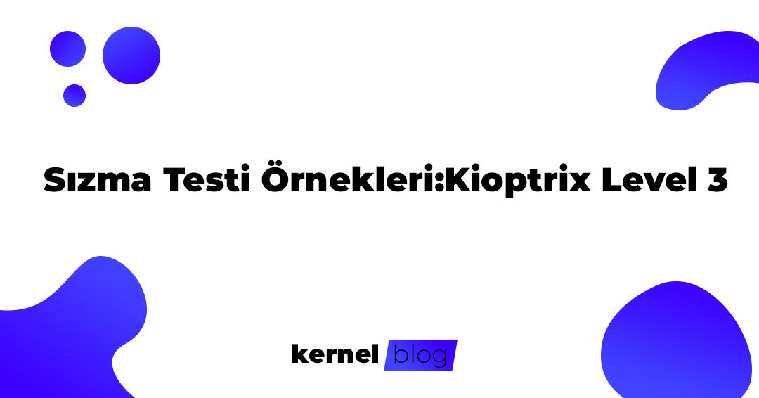 Sızma Testi Örnekleri:Kioptrix Level 3